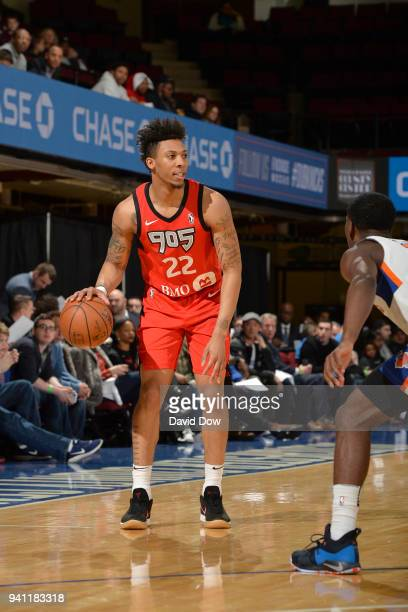 Malachi Richardson of the Raptors 905 handles the ball against the Westchester Knicks during the Eastern Conference Semifinals of the NBA GLeague...