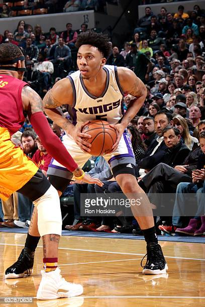 Malachi Richardson of the Sacramento Kings handles the ball during the game against the Indiana Pacers on January 27 2017 at Bankers Life Fieldhouse...