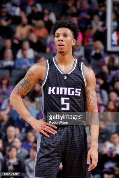 Malachi Richardson of the Sacramento Kings looks on during the game against the Phoenix Suns on February 3 2017 at Golden 1 Center in Sacramento...