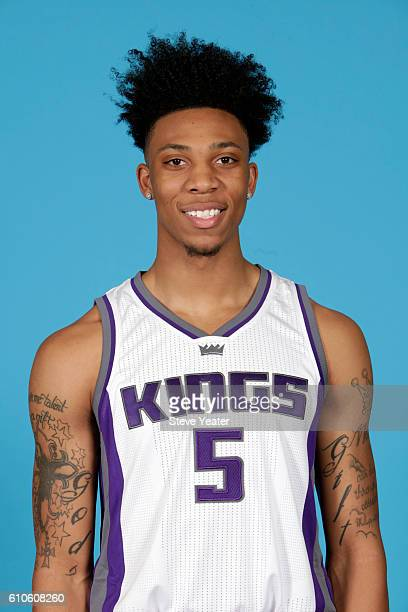 Malachi Richardson of the Sacramento Kings poses for a headshot during the 20162017 Sacramento Kings Media Day on September 26 2016 at the Kings...