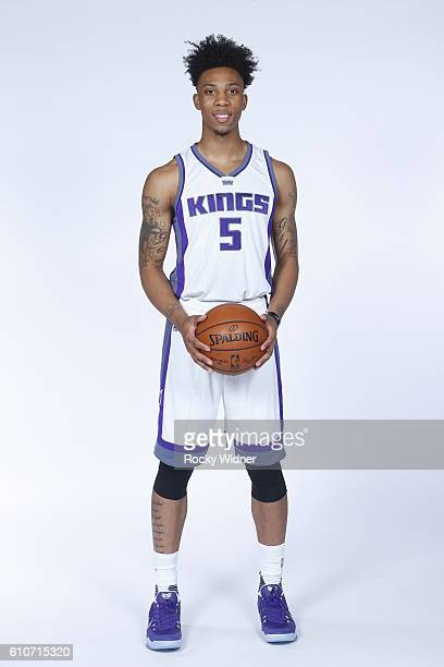 Malachi Richardson of the Sacramento Kings poses for a portrait on NBA media day on September 26 2016 at the Kings practice facility in Sacramento...