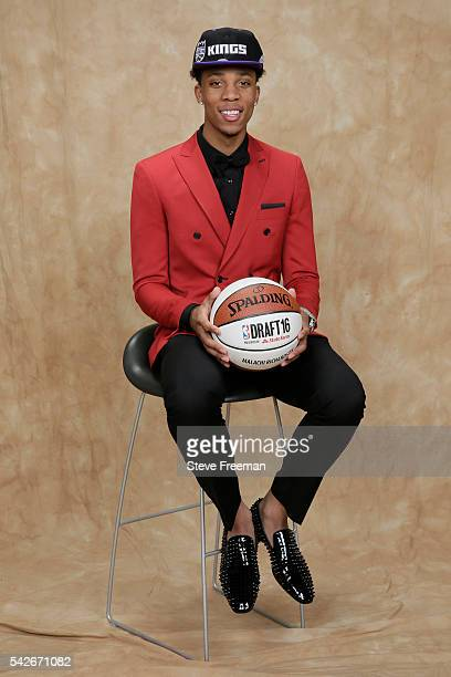 Malachi Richardson poses for a portrait after being traded to the Sacramento Kings during the 2016 NBA Draft on June 23 2016 at Barclays Center in...