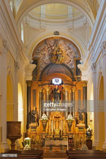 Malaga, Costa del Sol, Malaga Province, Andalusia, southern Spain. Interior of the church of the Convent of San Agustin.