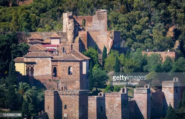 Malaga, Costa del Sol, Malaga Province, Andalusia, southern Spain The Alcazaba, Moorish fortifications of Malaga.