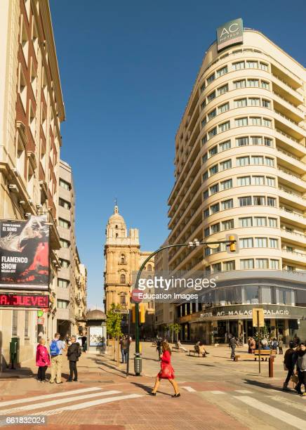 Malaga Costa del Sol Malaga Province Andalusia southern Spain The four star Hotel Malaga Palacio on the corner of Calle Cortina de Muelle and Calle...