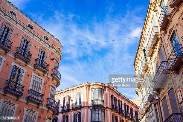 Malaga street scene, Malaga, Costa del Sol, Spain