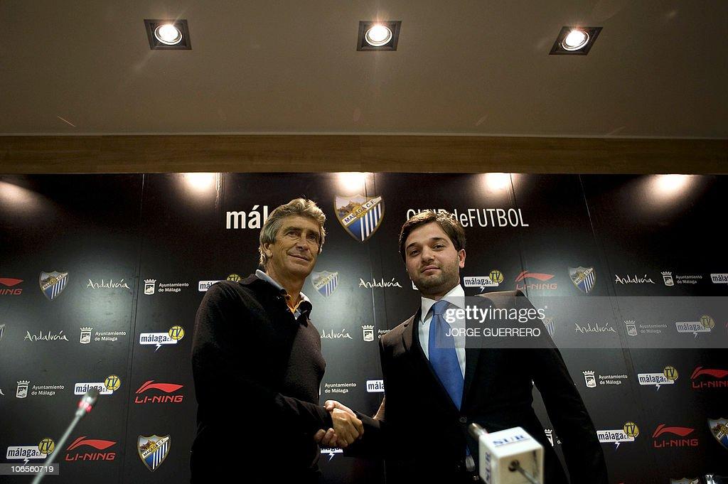 Malaga's Chilean new coach Manuel Pelleg : News Photo