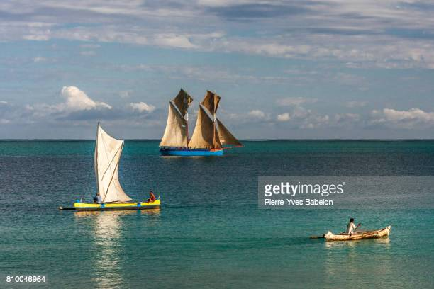 Malagasy dhow and dugout canoes