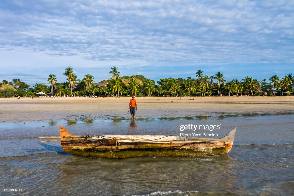 Malagasy fisherman : Stock Photo
