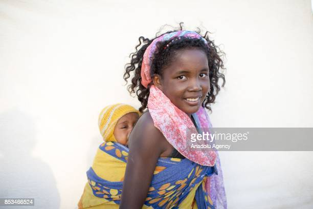 Malagasy girl Imasy Lavorary poses in Antananarivo Madagascar on September 24 2017 In Madagascar most of the girls with no education marry early as...