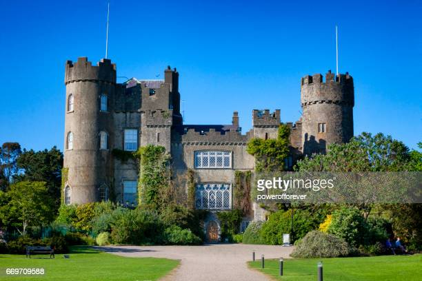 malahide castle in malahide, county fingal, ireland - malahide stock photos and pictures
