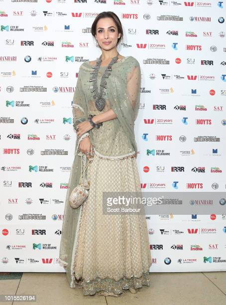 Malaika Aror attends the Westpac IFFM Awards Night 2018 at The Palais Theatre on August 12 2018 in Melbourne Australia