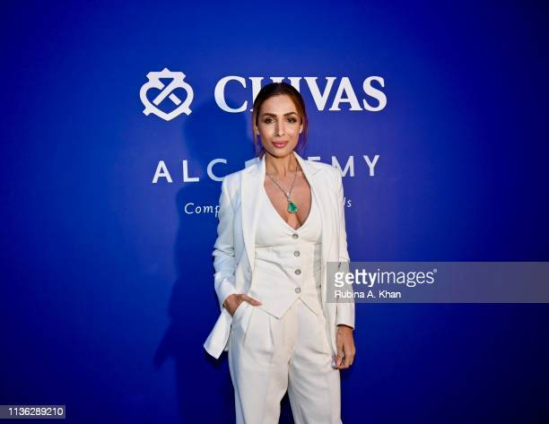 Malaika Arora attends the third edition of Chivas 18 Alchemy 2019 on March 16 2019 in New Delhi India