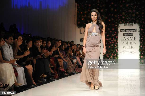 Malaika Arora Khan attends VIKRAM CHATWAL HOTELS Presents MAI MUMBAI with Fashion For Relief at LAKME FASHION WEEK at The Grand Hyatt on March 28...