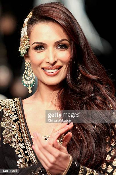 Malaika Arora Khan walks the runway of Vikram Phadnis show at Lakme Fashion Week Summer/Resort 2012 Day 1 at the Grand Hyatt on March 2 2012 in...