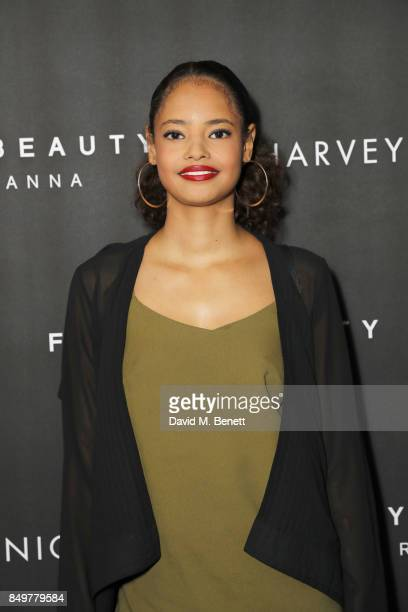 Malaika Firth attends the Fenty Beauty x Harvey Nichols launch at Harvey Nichols on September 19 2017 in London England