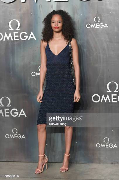 Malaika Firth attends the Lost In Space event to celebrate the 60th anniversary of the OMEGA Speedmaster at the Tate Modern on April 26 2017 in...