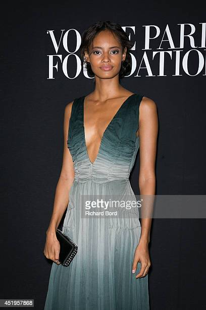 Malaika Firth attends the Vogue Foundation Gala as part of Paris Fashion Week at Palais Galliera on July 9 2014 in Paris France