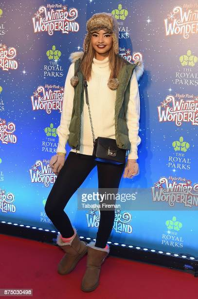 Malaika Firth attends the Winter Wonderland VIP launch night at Hyde Park on November 16 2017 in London England