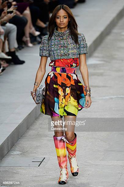 Malaika Firth walks the runway at the Chanel Spring Summer 2015 fashion show during Paris Fashion Week on September 30 2014 in Paris France