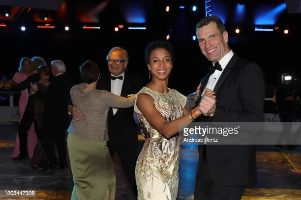 Malaika Mihambo and Michael Ilgner dance during the Ball des Sports 2020 gala at RheinMain CongressCenter on February 01 2020 in Wiesbaden Germany