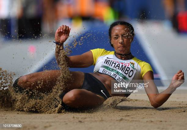 Malaika Mihambo of Germany competes in the Women's Long Jump qualification during day three of the 24th European Athletics Championships at...