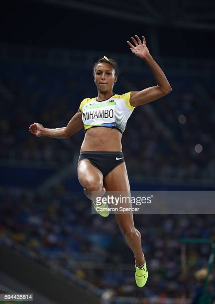Malaika Mihambo of Germany competes in the Women's Long Jump final on Day 12 of the Rio 2016 Olympic Games at the Olympic Stadium on August 17 2016...