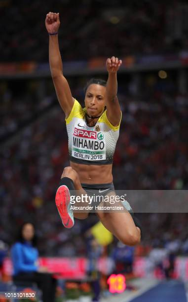 Malaika Mihambo of Germany competes in the Women's Long Jump Final during day five of the 24th European Athletics Championships at Olympiastadion on...