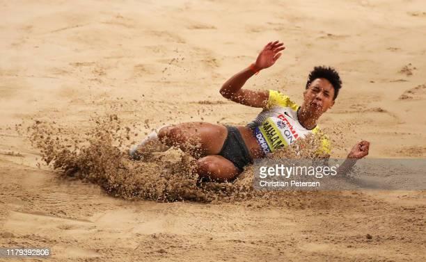 Malaika Mihambo of Germany competes in the Women's Long Jump final during day ten of 17th IAAF World Athletics Championships Doha 2019 at Khalifa...