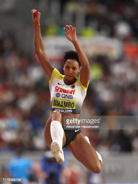 Malaika Mihambo of Germany competes in the Women's Long Jump final during day ten of 17th IAAF World Athletics Championships Doha 2019 at Khalifa...