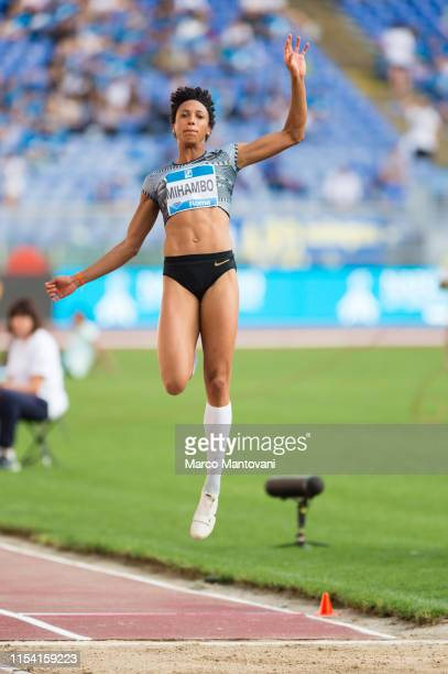 Malaika Mihambo of Germany competes in women's Long Jump during the IAAF Diamond League Golden Gala Pietro Mennea at Stadio Olimpico on June 06 2019...