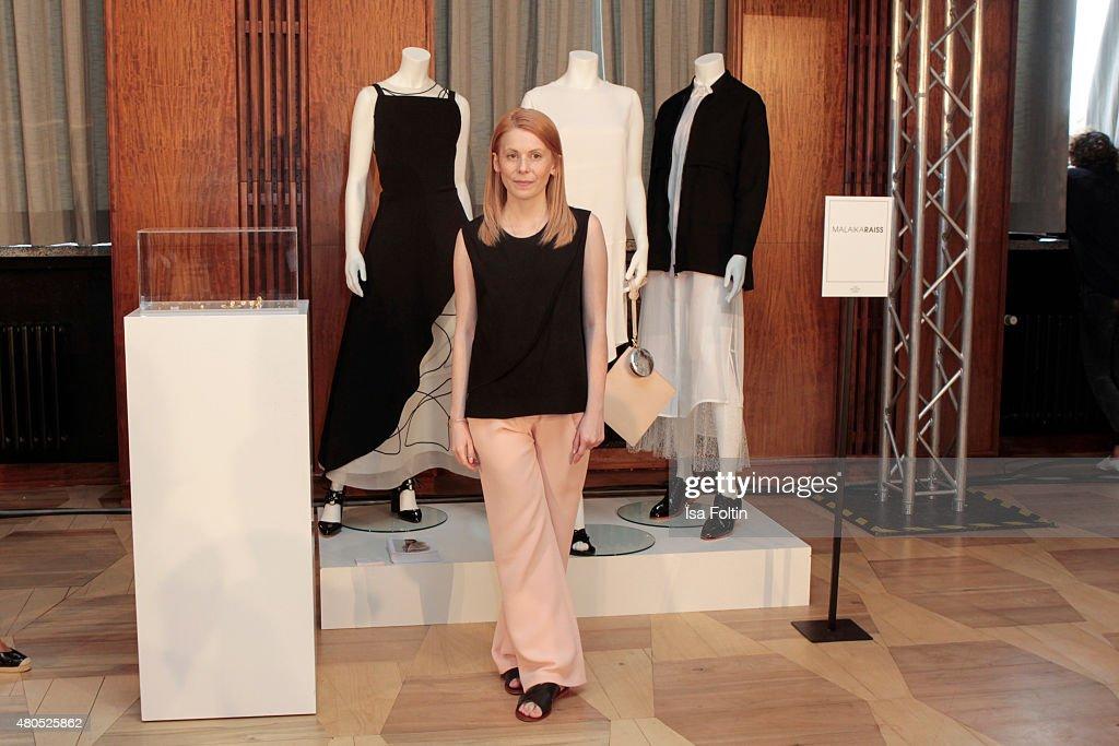 Malaika Raiss Der Berliner Modesalon on July 10, 2015 in Berlin, Germany.