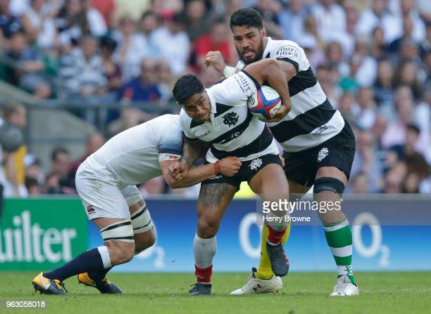 Malakai Fekitoa of Barbarians during the Quilter Cup match between England and Barbarians at Twickenham Stadium on May 27 2018 in London England