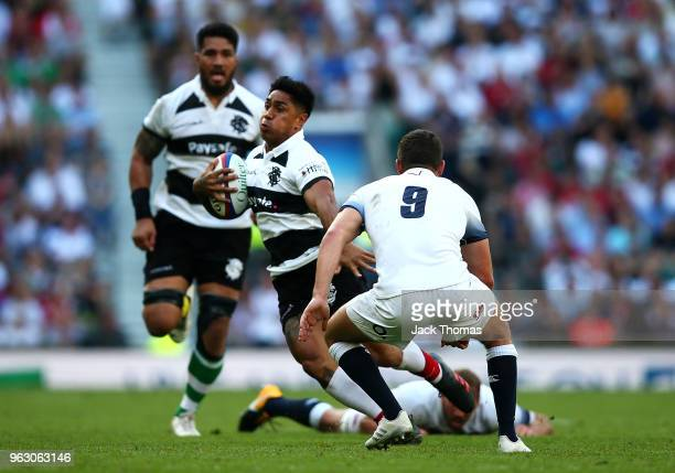 Malakai Fekitoa of the Barbarians in action during the Quilter Cup match between England and Barbarians at Twickenham Stadium on May 27 2018 in...