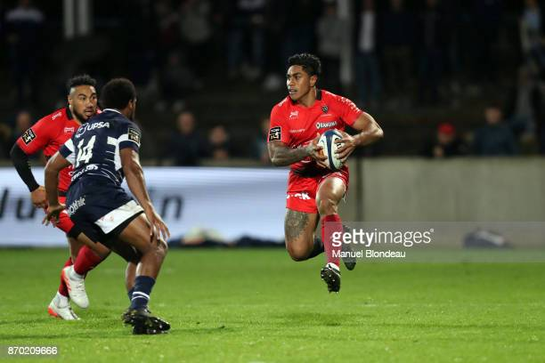Malakai Fekitoa of Toulon during the French Top 14 match between Agen and Toulon at Stade Armandie on November 4 2017 in Agen France