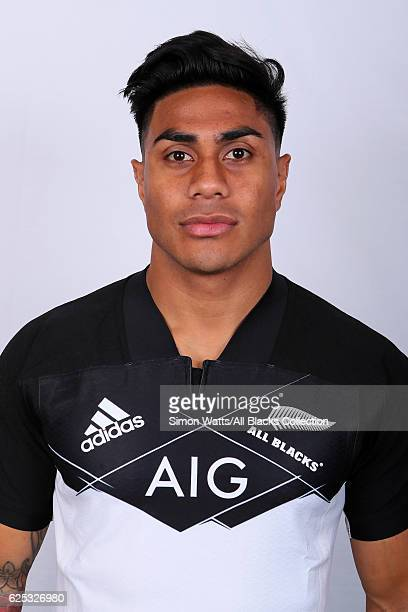 Malakai Fekitoa poses during the All Blacks End of Year Tour 2016 Headshots Session at Auckland International Airport Novotel on October 28 2016 in...