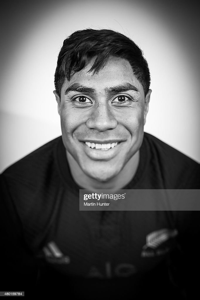 Malakai Fekitoa poses during the New Zealand All Blacks portrait session at The George Hotel on July 10, 2015 in Christchurch, New Zealand.