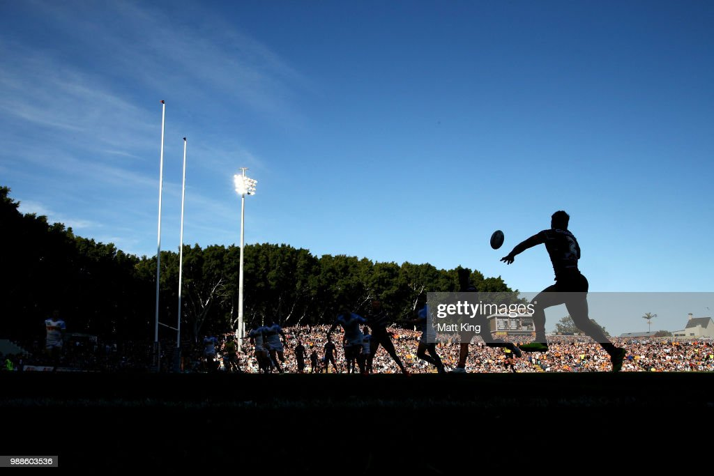 Malakai Watene-Zelezniak of the Tigers takes a pass during the round 16 NRL match between the Wests Tigers and the Gold Coast Titans at Leichhardt Oval on July 1, 2018 in Sydney, Australia.
