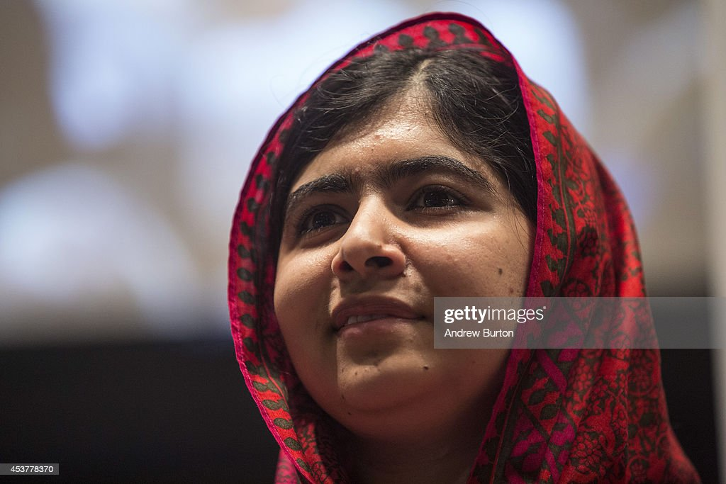 Malala Yousafzai, an education and women's rights activist, attends a conference on the United Nation's (UN) Millenium Development Goals on August 18, 2014 in New York City. Malala also met with UN Secretary General Ban Ki-Moon.