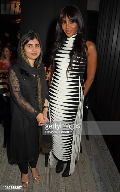 Malala Yousafzai and Naomi Campbell attend an intimate dinner and party hosted by British Vogue and Tiffany & Co. To celebrate Fashion and Film...