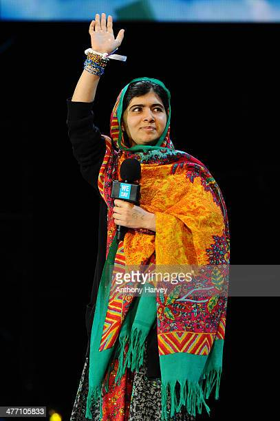 Malala Yousafzai attends as Free The Children hosts their debut UK global youth empowerment event We Day at Wembley Arena on March 7 2014 in London...