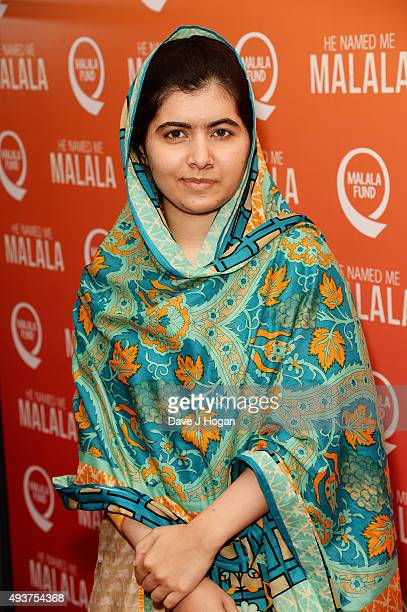 Malala Yousafzai attends the He Named Me Malala Special Screening at Ham Yard Hotel on October 22 2015 in London England