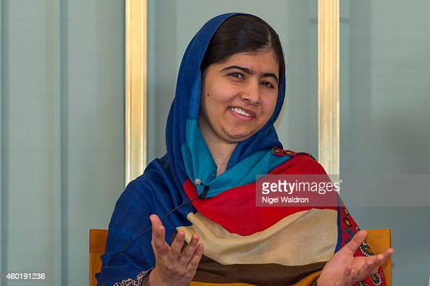 Malala Yousafzai attends the Nobel Peace Prize press conference at the Norwegian Nobel Institute on December 9, 2014 in Oslo, Norway.
