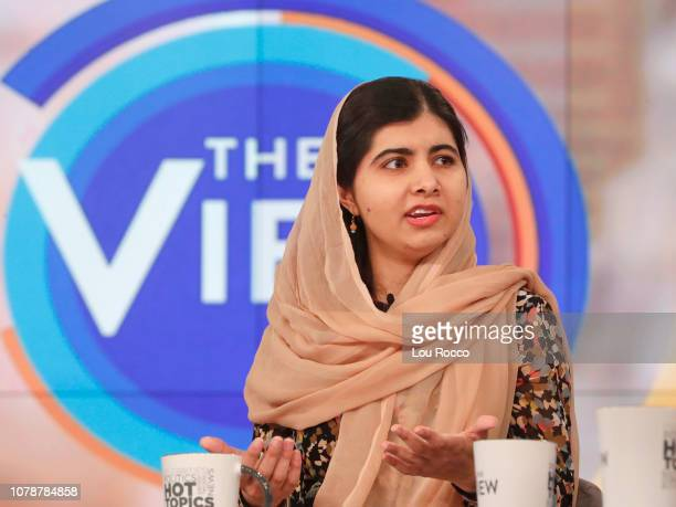 Malala Yousafzai is a guest today January 7 2019 on Walt Disney Television via Getty Images's The View The View airs MondayFriday on the Walt Disney...
