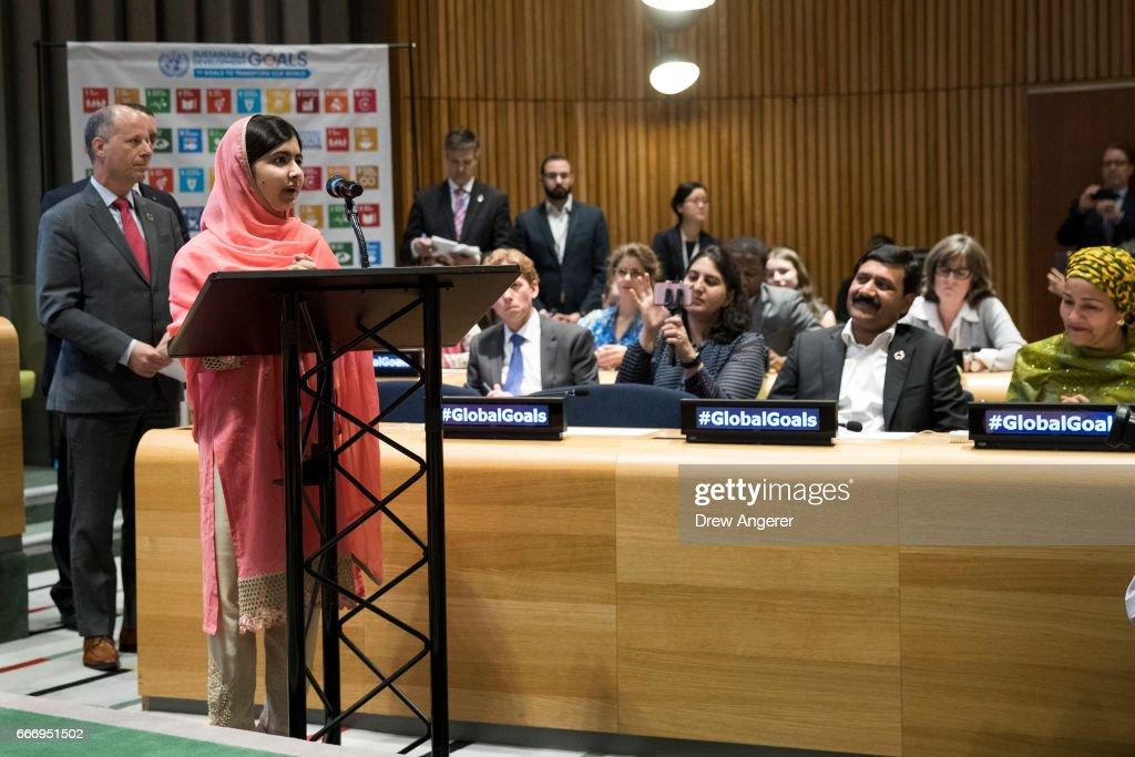 Malala Yousafzai Elevated To United Nations Messenger Of Peace : News Photo