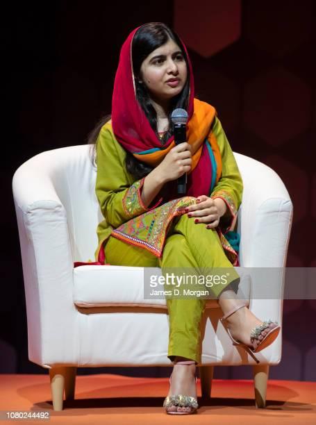 Malala Yousafzai talks to over 6,000 guests at ICC Sydney Theatre on December 10, 2018 in Sydney, Australia. Malala Yousafzai is a Pakistani activist...