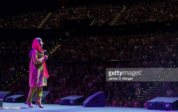 Malala Yousafzai talks to over 6000 guests at ICC Sydney Theatre on December 10 2018 in Sydney Australia Malala Yousafzai is a Pakistani activist for...