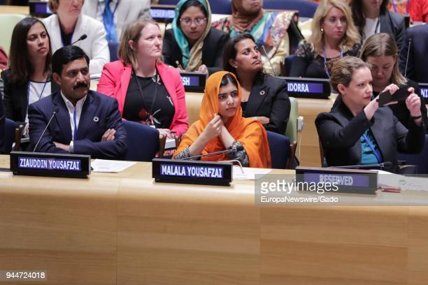 Malala Yousafzai, UN Messenger of Peace and Nobel Prize laureate, makes remarks at the United Nations, New York City, New York, September 20, 2017.