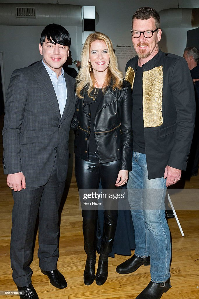 Malan Breton, Alex Mccord and Simon Van Kempen attend Fashion for Action 2012 at the Altman Building on November 7, 2012 in New York City.