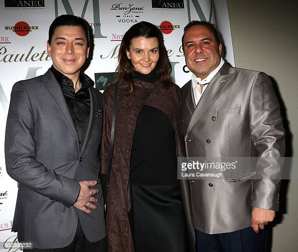 Malan Breton Alina Supanova and John Alessi attend Malan Breton Couture Collection Unveiling Hosted By Dorinda Medley at Madame Paulette on December...